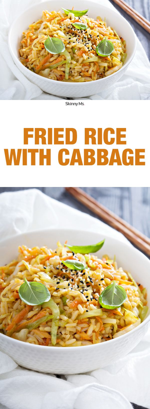 Fried Rice is always one of my takeout favorites, but it's so caloric! Here is an excellent alternative: Fried Rice with Cabbage!