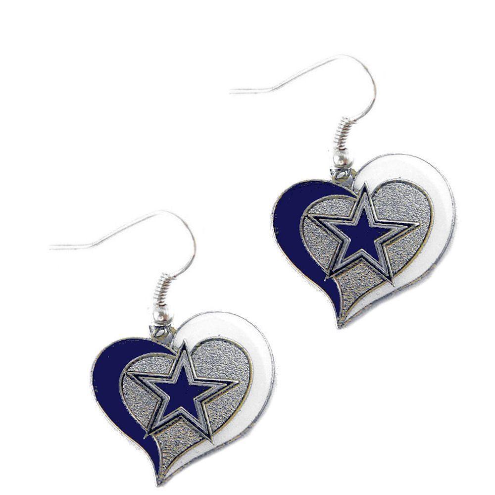 40e099cab33cf6 Dallas Cowboys Women s Swirl Heart Earrings