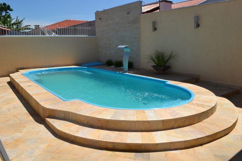 Quintal com piscina de fibra pesquisa google for Piscinas para chalets