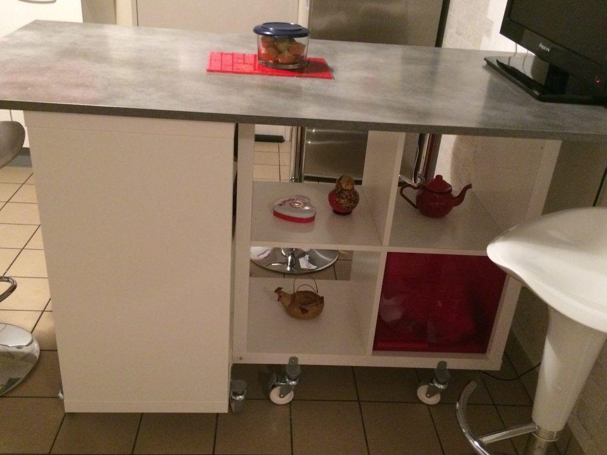 Socle Ilot Central Ikea ~ Table Lot De La Cuisine De Corine Avec Kallax Ikea Hack