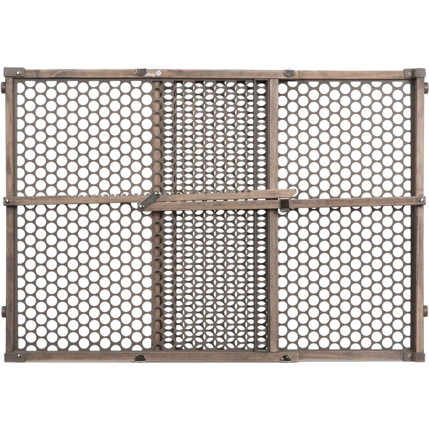 Safety 1st Vintage Gray Wood Doorway Security Gate Gray