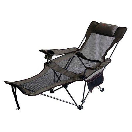 reclining beach chair target teak chaise lounge chairs outdoor mesh lounger camping gear pinterest