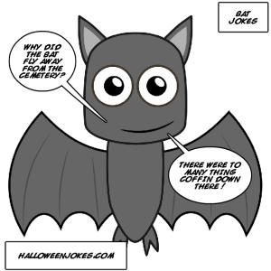 Black Bat Joke Comic , Halloween Jokes