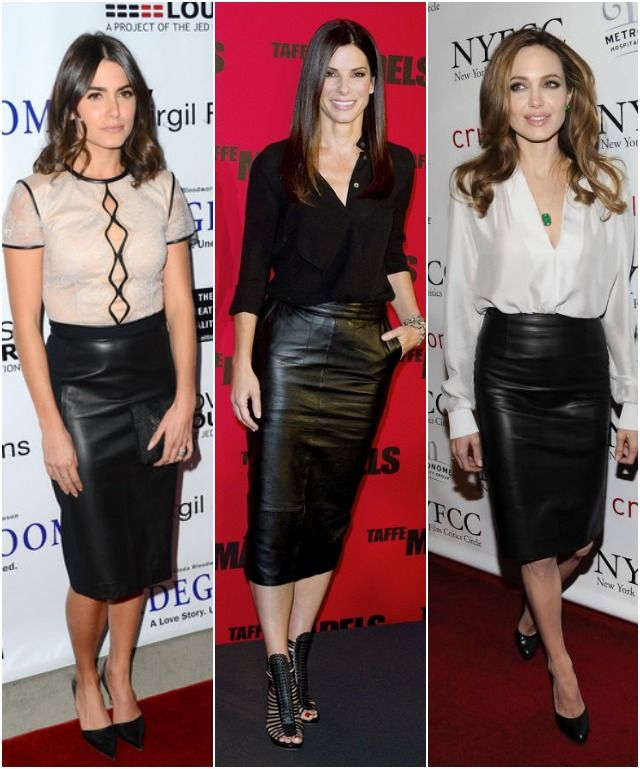 Staple of the Week: Leather Pencil Skirt | Nikki reed, Pencil ...