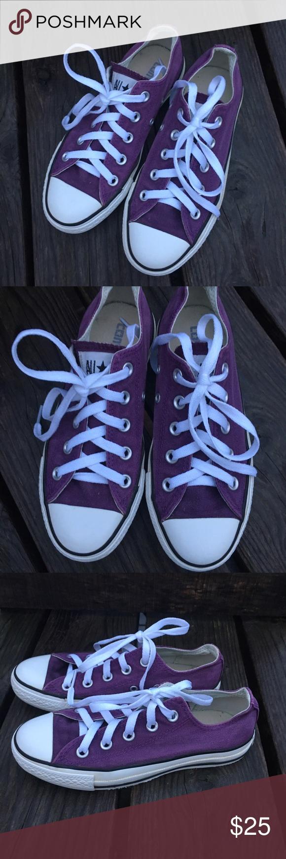 173abaa1b5e 🆕List! Purple Converse All-Stars! New Laces! GUC! Men s   kids size ...