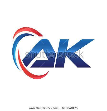 initial letter logo swoosh red blue vektorgrafik alphabet grafik erstellen indesign fuchs vektor