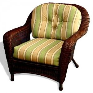 Attractive Yellow Wicker Chair Cushion