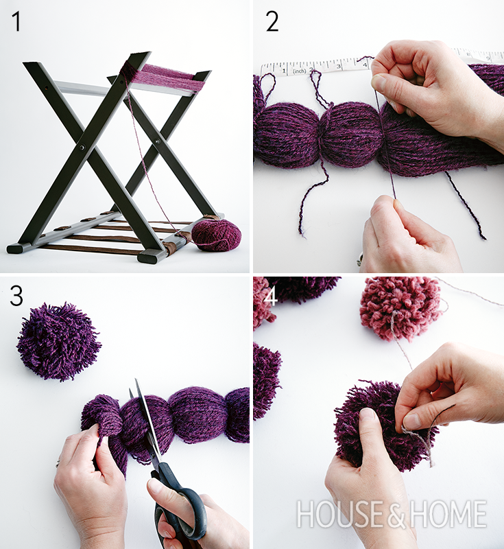 Get design editor Stacey Smithers' step-by-step instructions for a playful woolen pompom garland. | Photographer: Michael Graydon