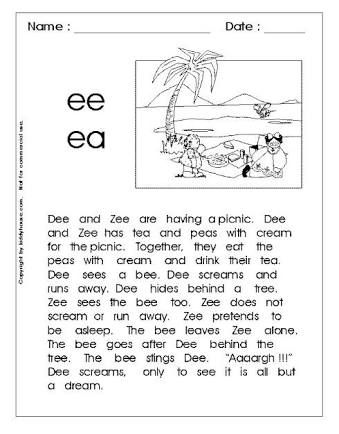 long vowel a reading ee - Google Search | worksheets | Pinterest ...