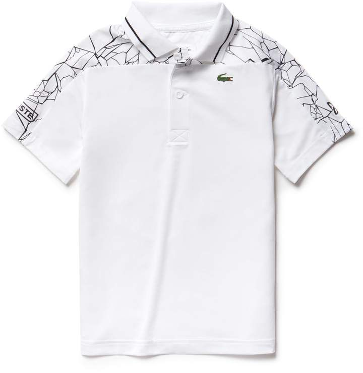 Lacoste Mens Sport Novak Djokovic Allover Print Technical Polo Shirt Shirts