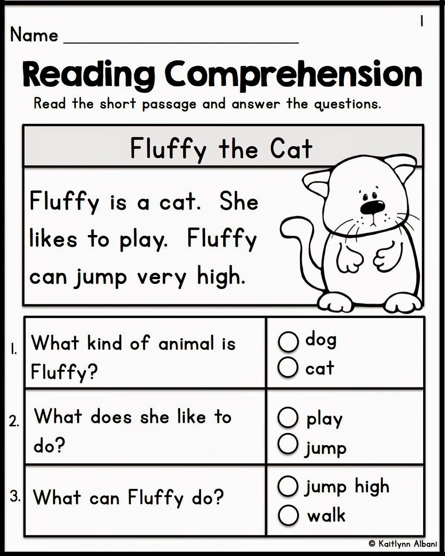 Kindergarten Reading Comprehension Worksheets Reading
