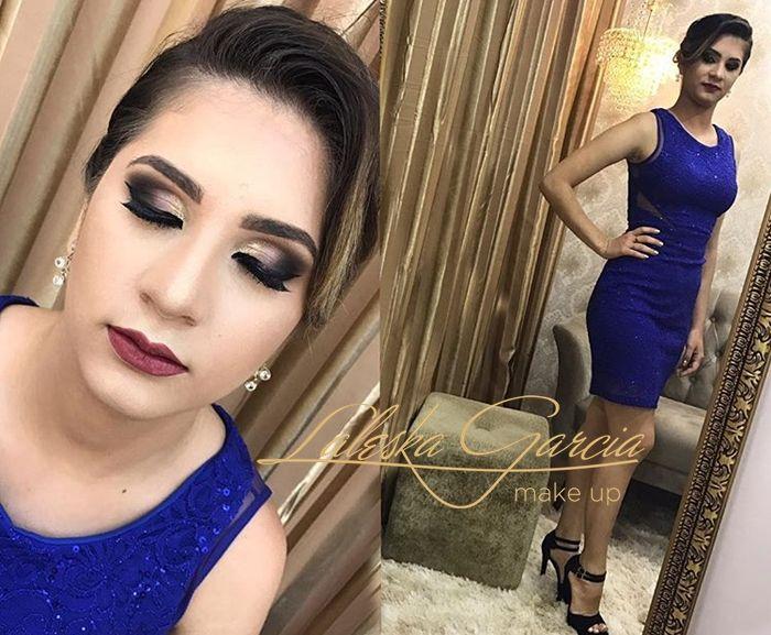 Maquiagem para madrinha de casamento vestido azul royal