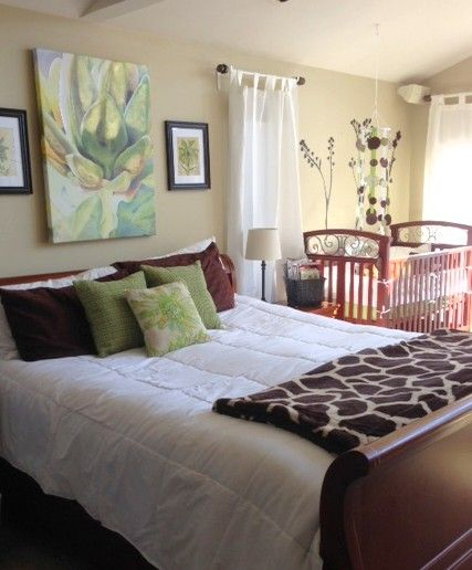 Bedroom Ideas Room Sharing With Baby: DIY Decorating: Combined Master Bedroom And Baby Nursery