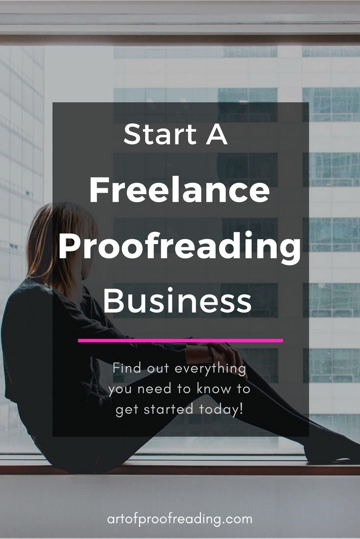 Starting a proofreading business