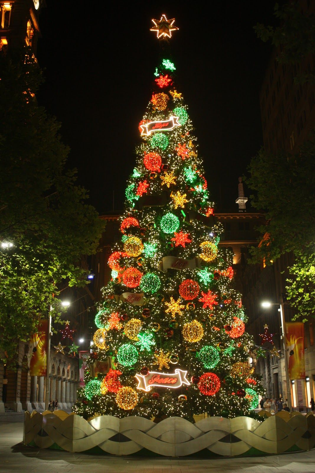 Christmas Tree, Martin Place pedestrian mall, outside the