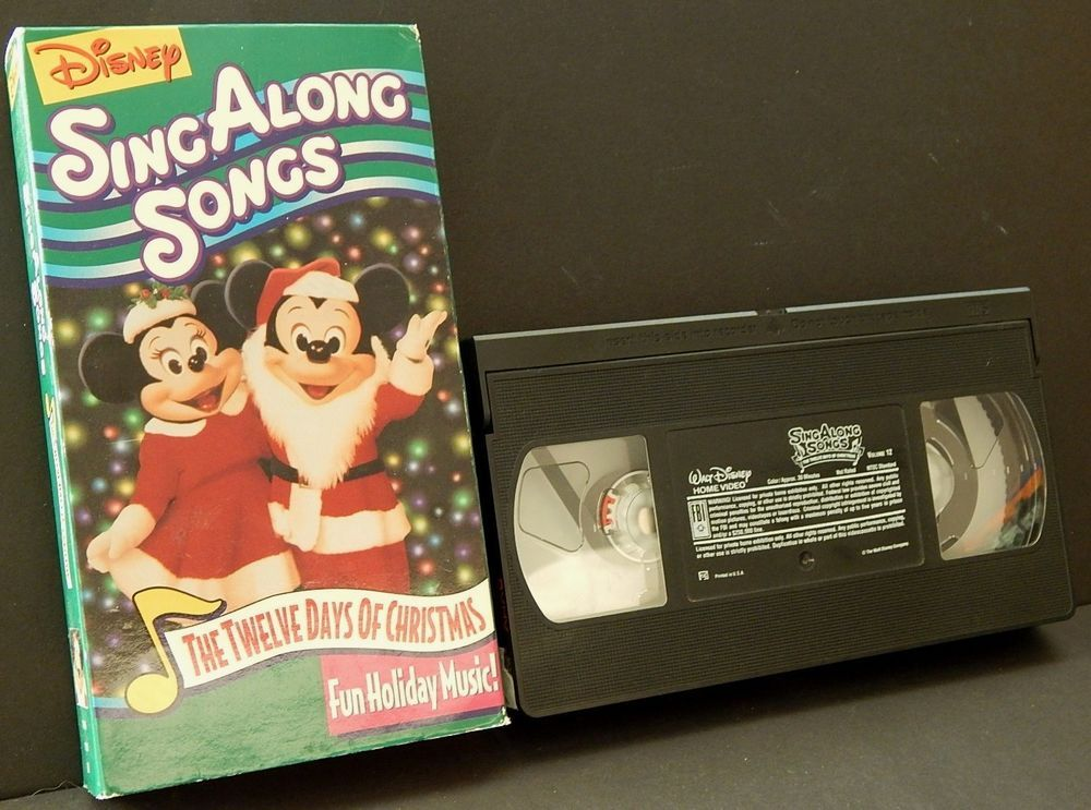 disney sing along songs the twelve days of christmas vhs holiday music - Disney 12 Days Of Christmas