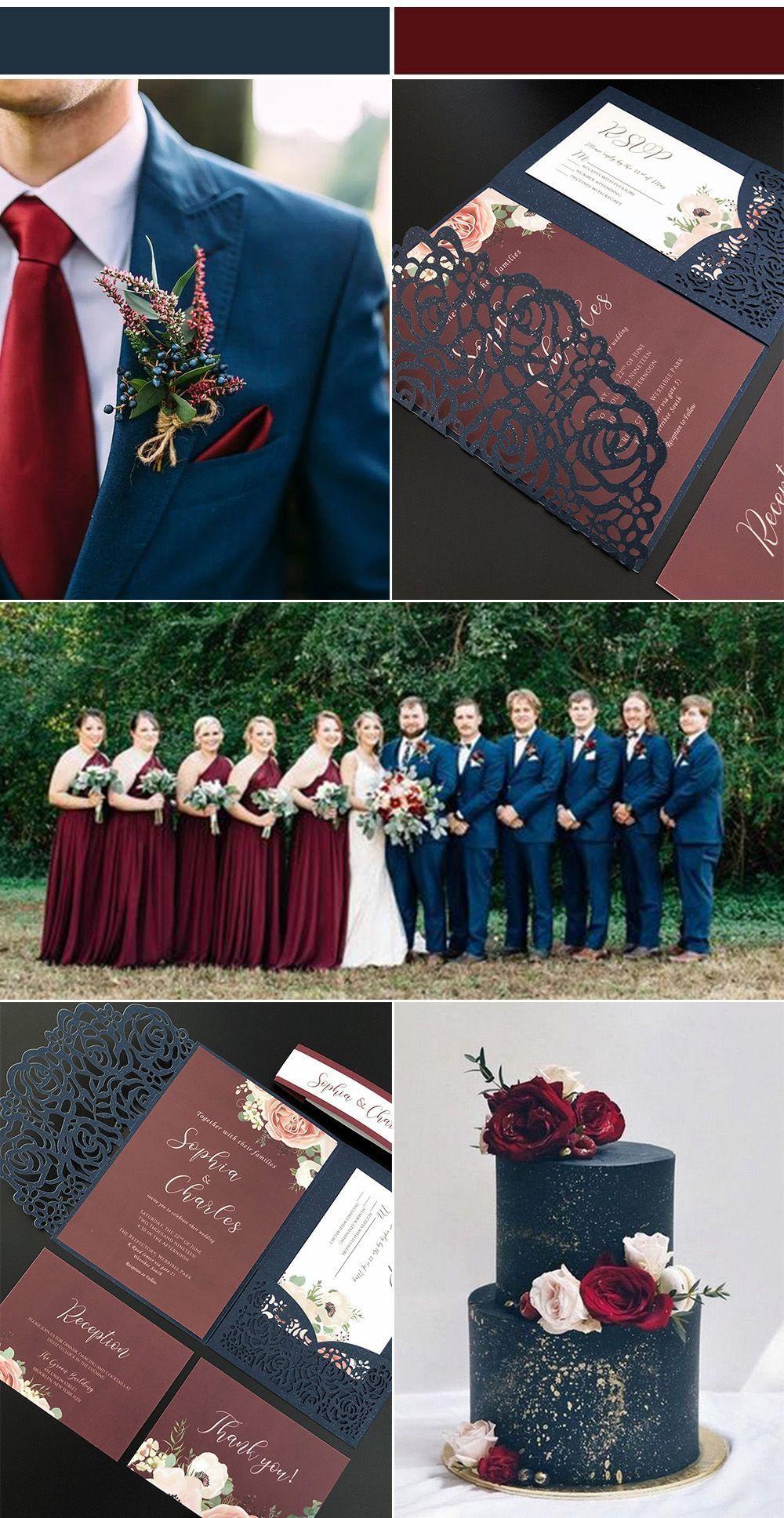 #burgundy weddings #fallweddingideas