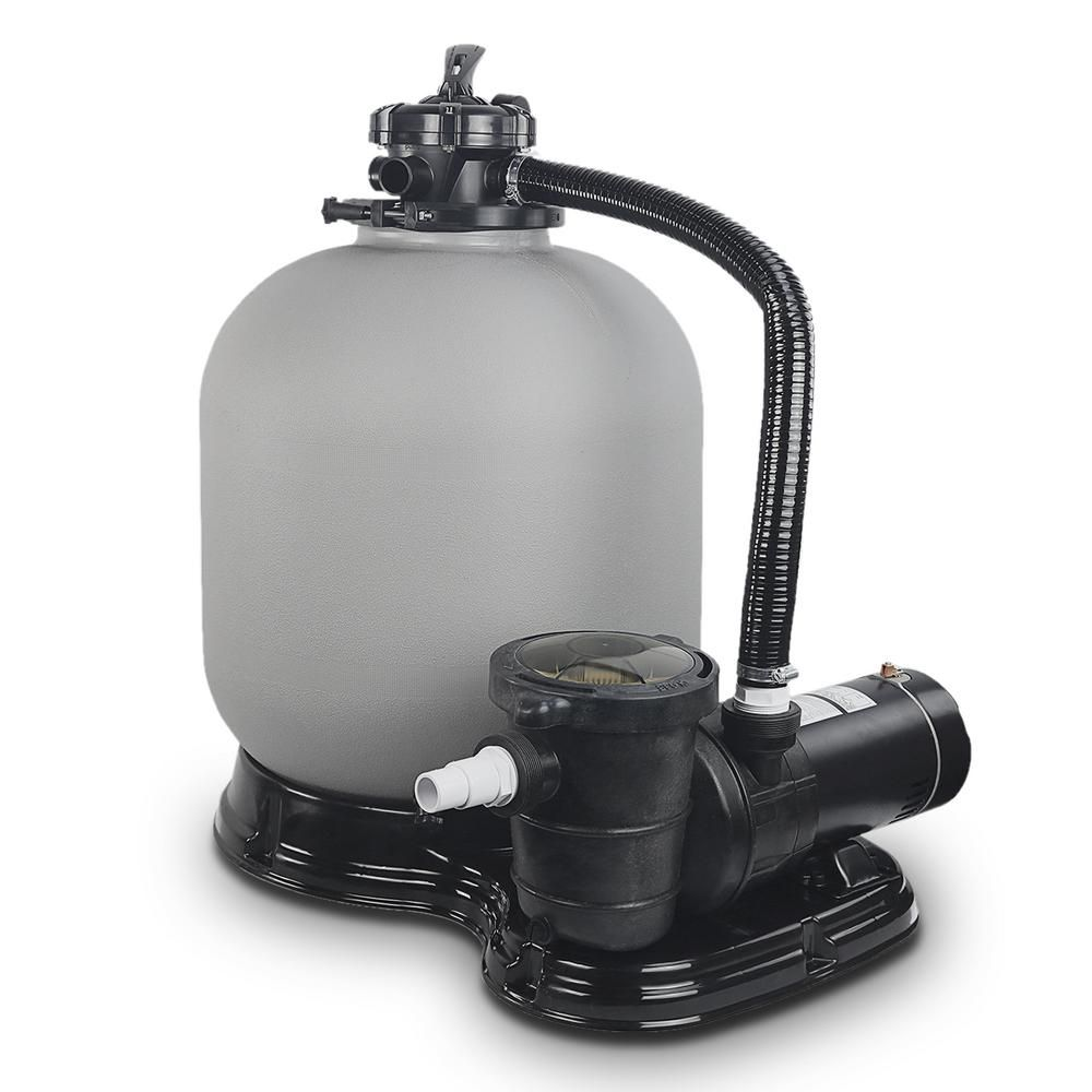 Xtremepowerus 19 In 2 Sq Ft Sand Filter System With 1 5 Hp Swimming Pool Pump 75032 H The Home Depot Pool Sand Pool Pump Above Ground Swimming Pools