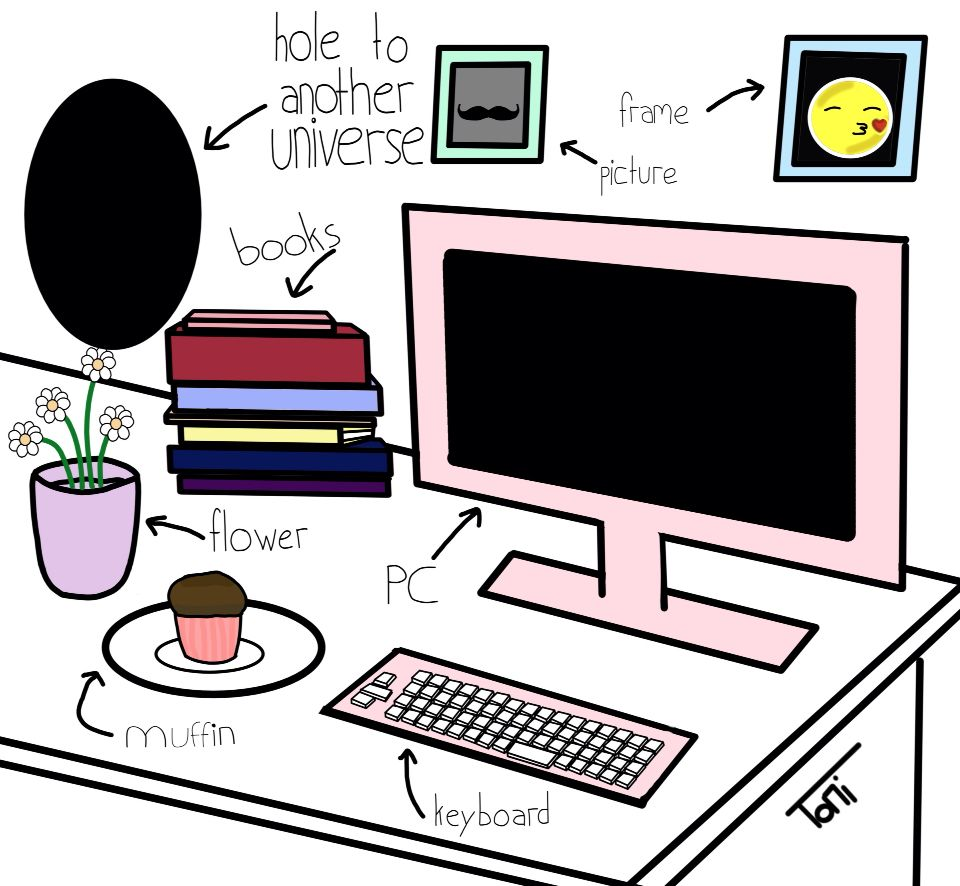 #drawing #tumblr #tumblrdrawing #Zeichnung #zeichnen #Art #Kunst #Illustration #room #Tablet #pc #holetoanotheruniverse #hole #muffin #cute #Sweet #pink #roomart #funny #live #Love #Girls #Girl #Girly #tumblr