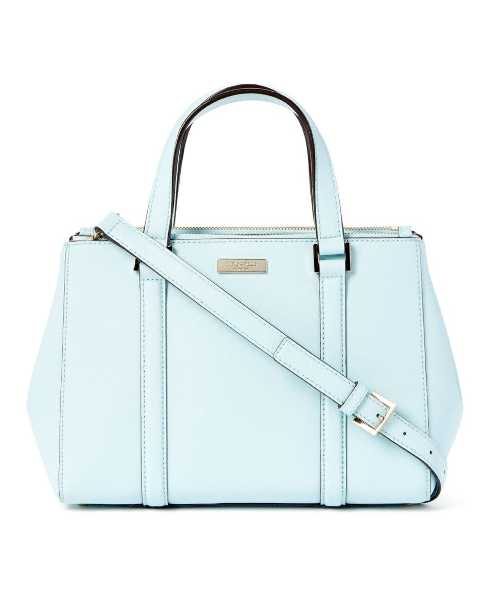 Look what I found on #zulily! Kate Spade Grace Blue Loden Newbury Lane Leather Satchel by Kate Spade #zulilyfinds