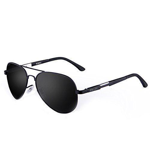 50e8844bdb222 Polarized Aviator Sunglasses Men - FEIDU FD9001 Metal Frame Sun Glasses for  Men  FEIDU