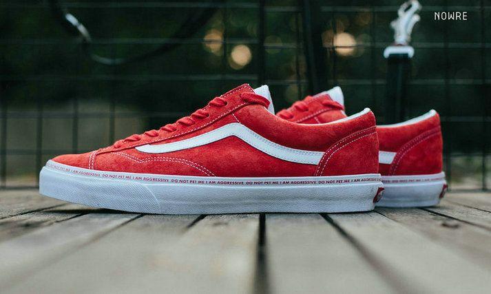 0c89b6807f56db Vans x Sankuanz STYLE 36 YEAR OF THE DOG 18SS Vans Old Skool Red White  Skate Shoe  Vans