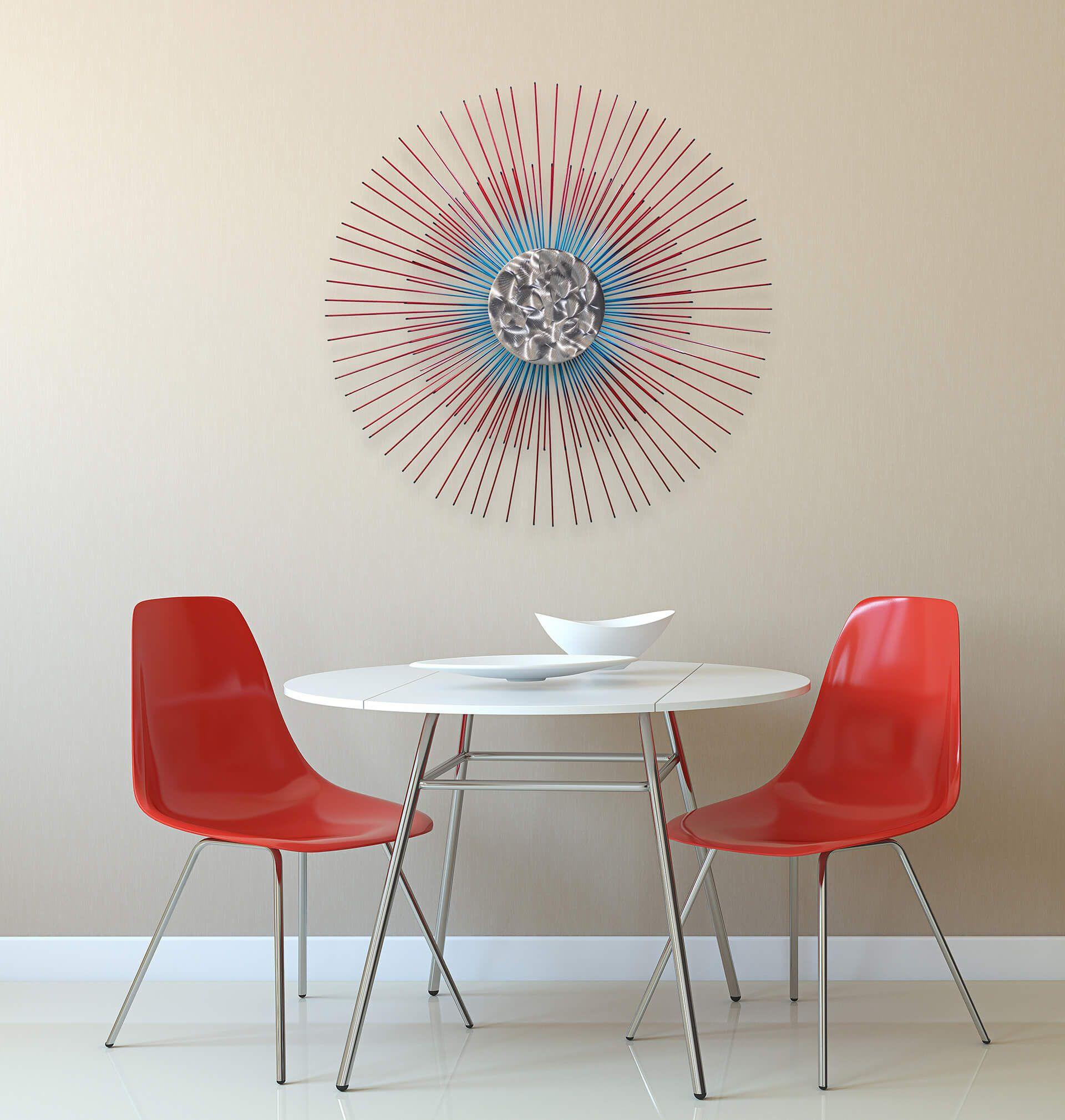 Metall Wandskulptur 'Mondschein' 80x80x6cm