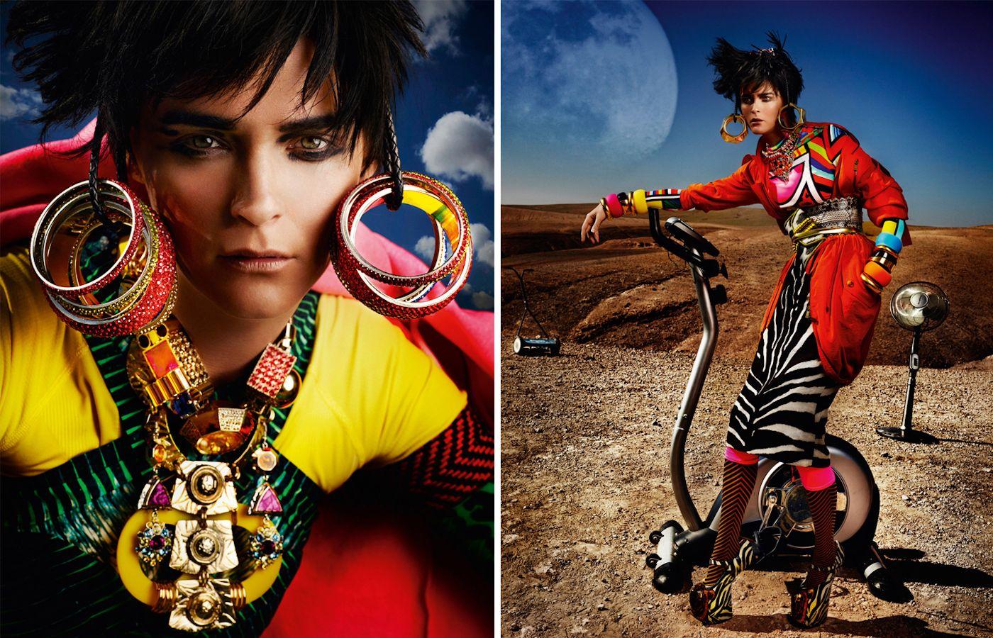 Carmen Kass by Mario Testino for Vogue UK May 2012.