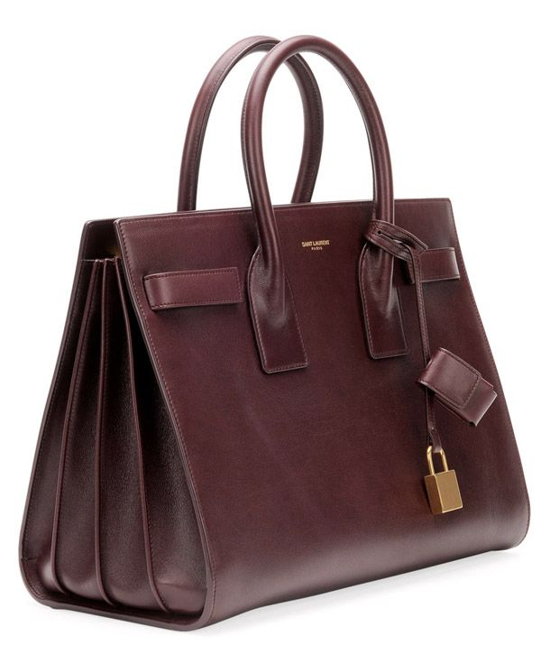 Yves Saint Laurent Wine Stained Bordeaux Sac de Jour Carryall Bag ... 5281f21ff3a36