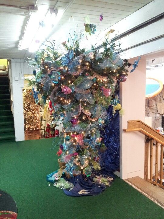 """Themed christmas tree """"under the sea"""" at the pool place in ..."""