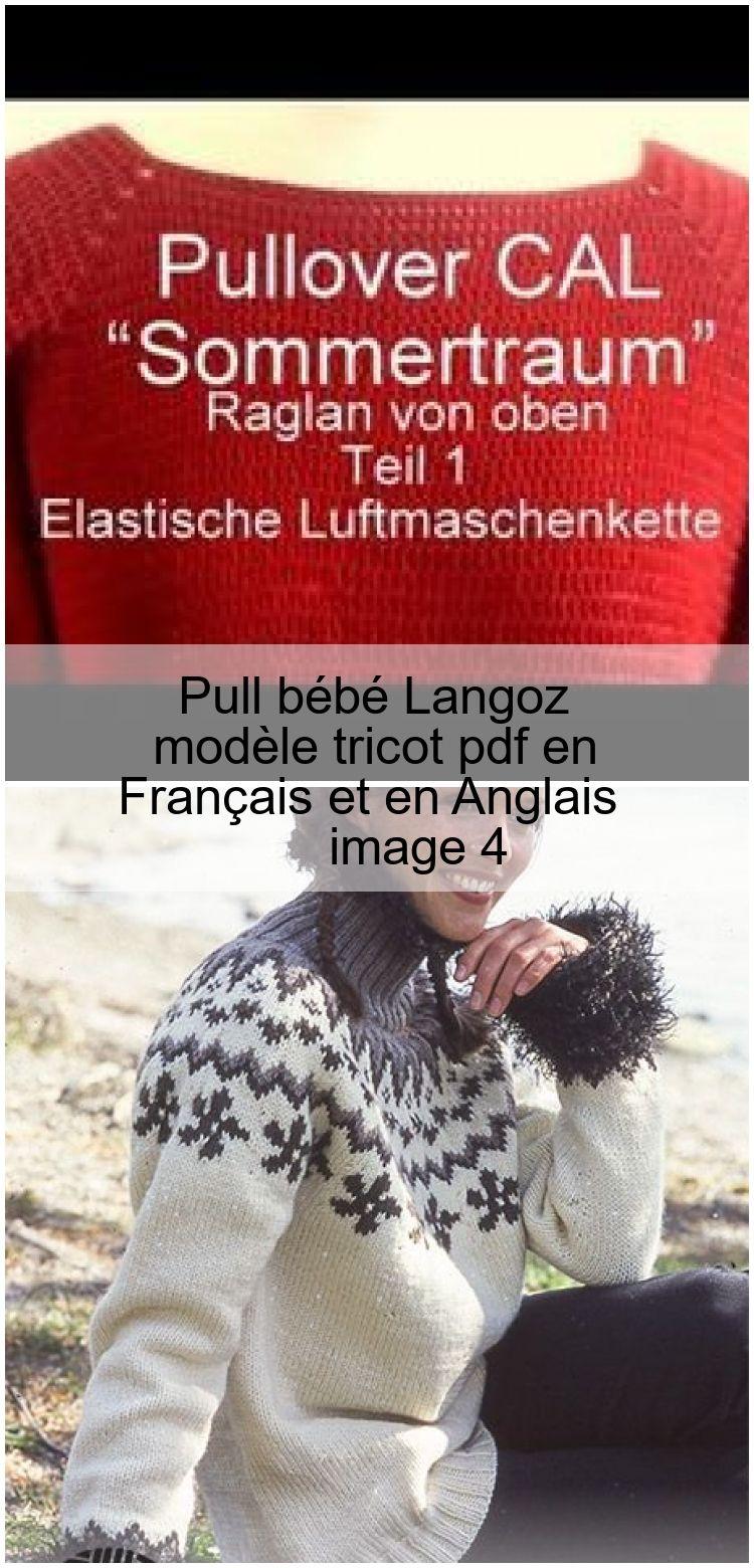 Pull bébé Langoz  modèle tricot pdf en Français et en Anglais Pull bébé Langoz  modèle tricot pdf en Français et e...