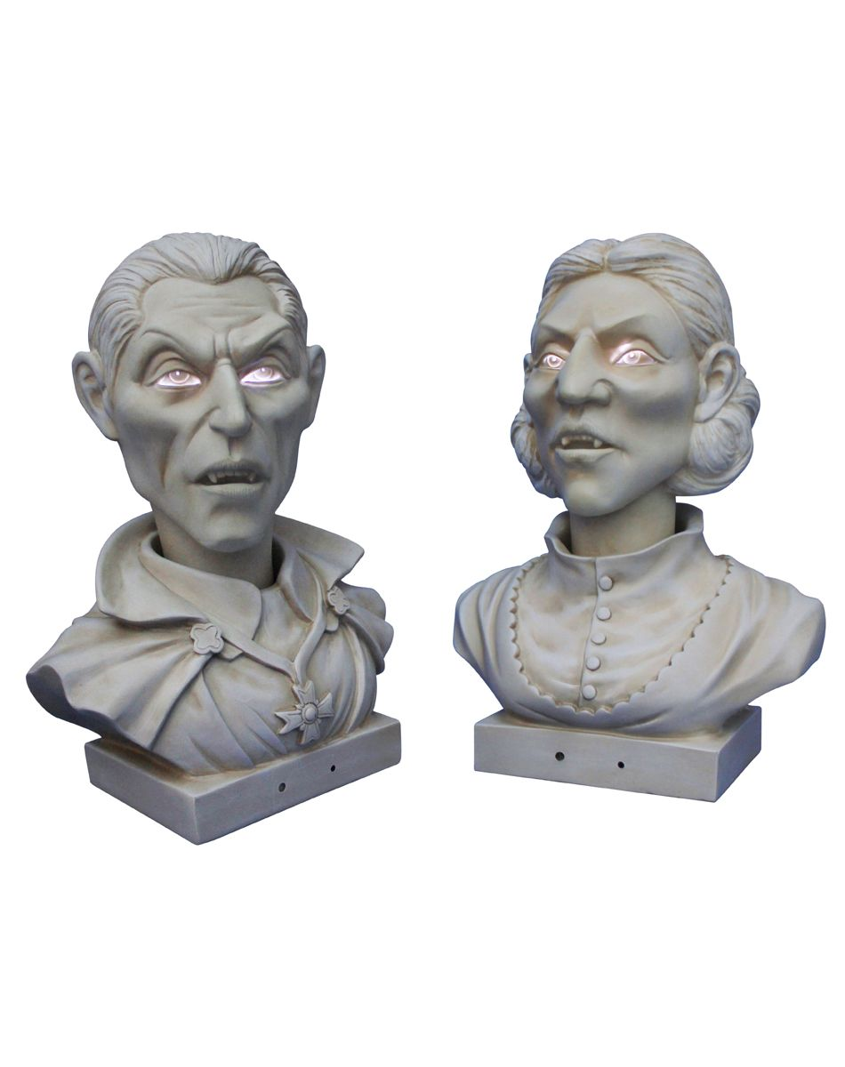 Grandin Road named them  Velma  and  Evander  They look great on plaster  pedestalsThey have these on display in store   they interact with each  . Martha Stewart Halloween Costumes Grandin Road. Home Design Ideas