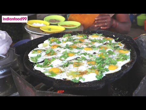 Queen Of Fried Eggs – Amazing fried eggs prepared by Indian street food vendor -…