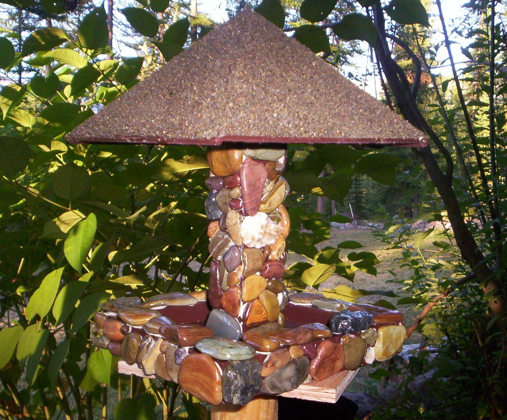 Bird Feeders made from Rocks out of the Swan Valley River