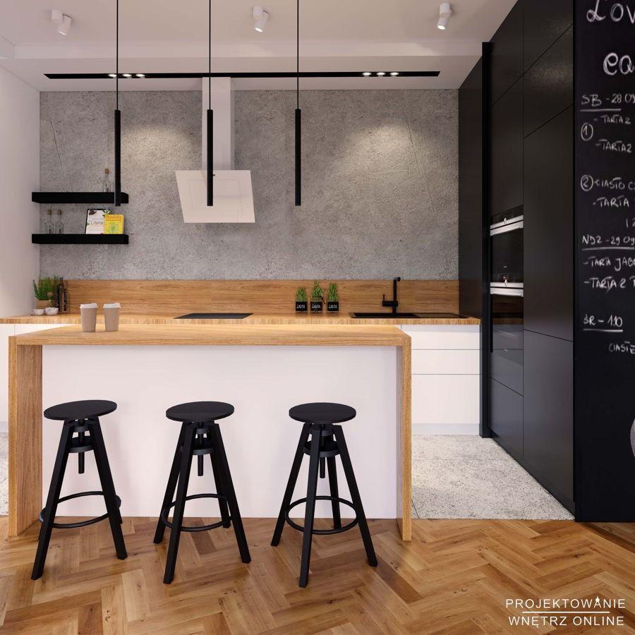 Kuchnia Polaczona Z Salonem W Stylu Industrialnym Home Decor Home Decor