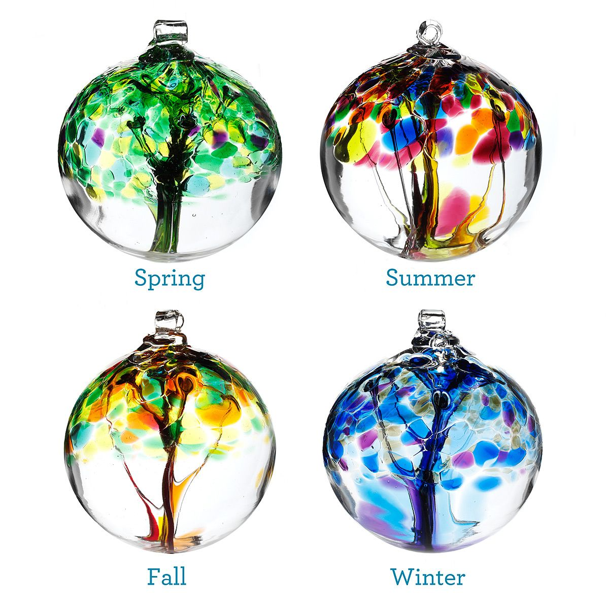 Glass globe ornaments - Four Seasons Glass Globes