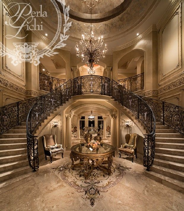 Double Staircase Foyer: 55 Luxurious Grand Staircase Design Ideas That Are Just