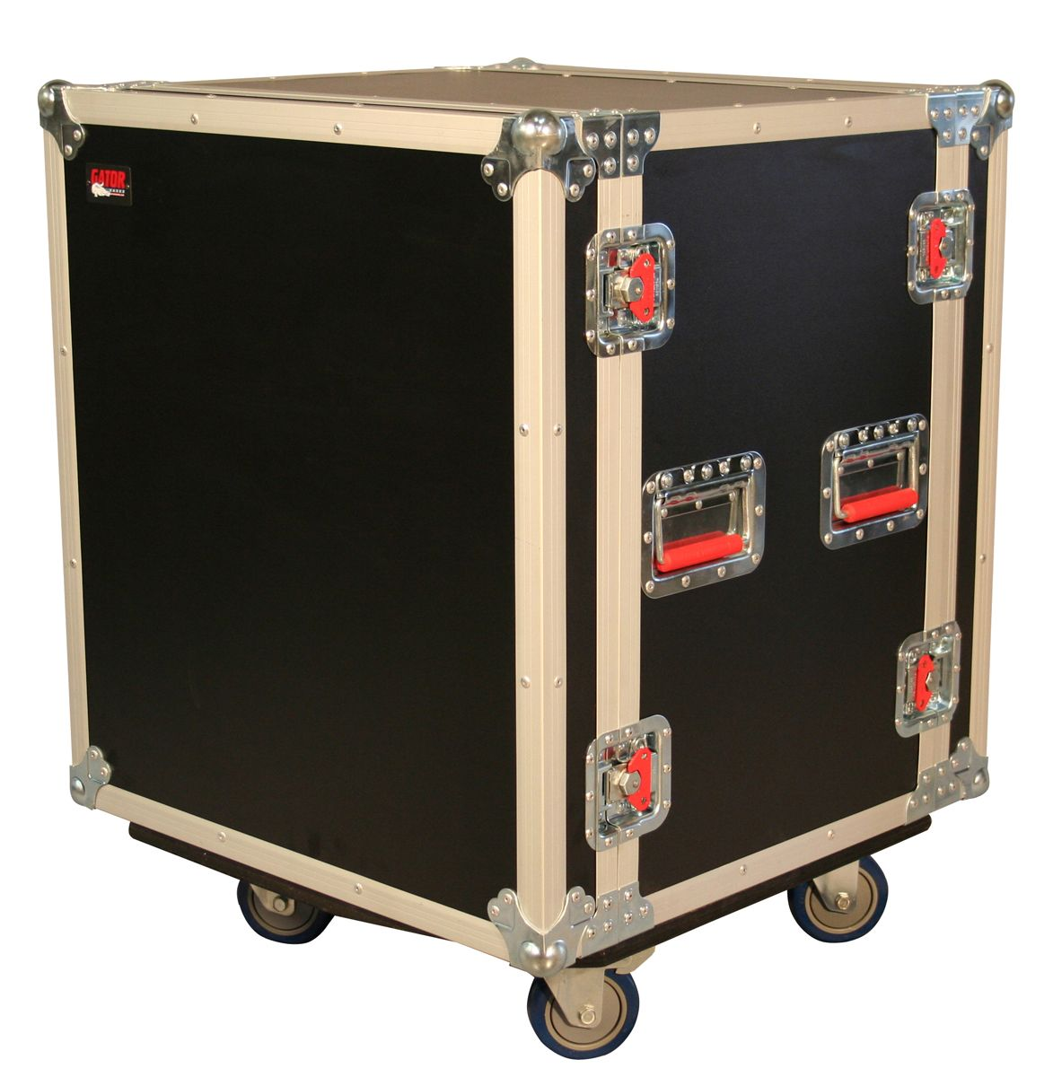 12u Ata Wood Flight Shock Rack Case W Casters G Tours Road Cases Casters