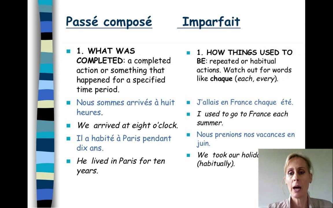 Powerpoint Video But Very Much Like I Would Teach It Passe Compose Vs Imparfait Teaching French French Language Lessons Learn French [ 720 x 1152 Pixel ]