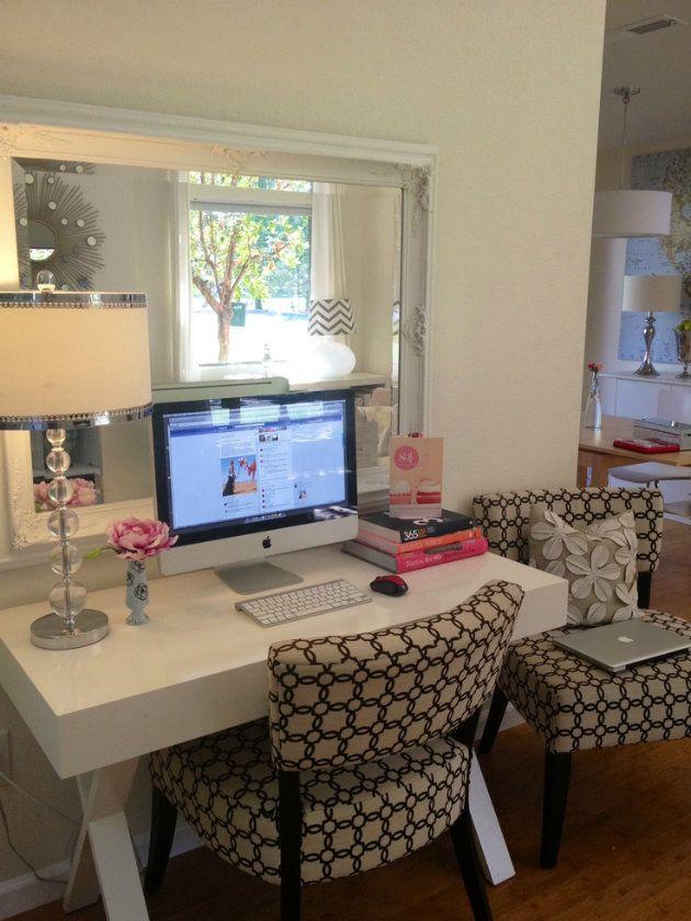 White Mirror Gl Lamp Desk