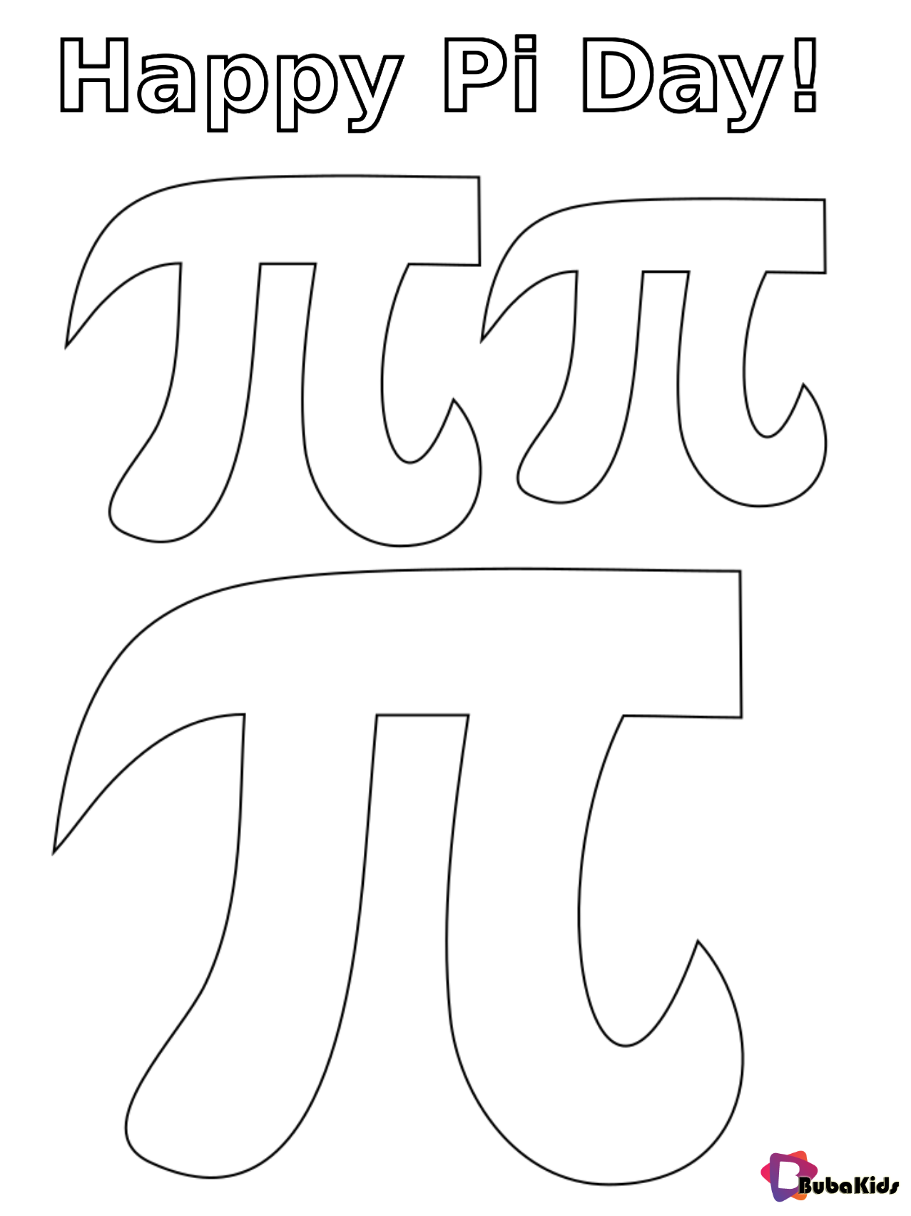 Pin By Coloring Pages Bubakids On Cartoon Coloring Pages Happy Pi Day Coloring Pages Cartoon Coloring Pages [ 1703 x 1277 Pixel ]
