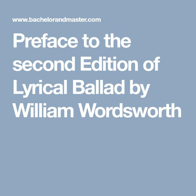 william wordsworth lyrical ballads analysis
