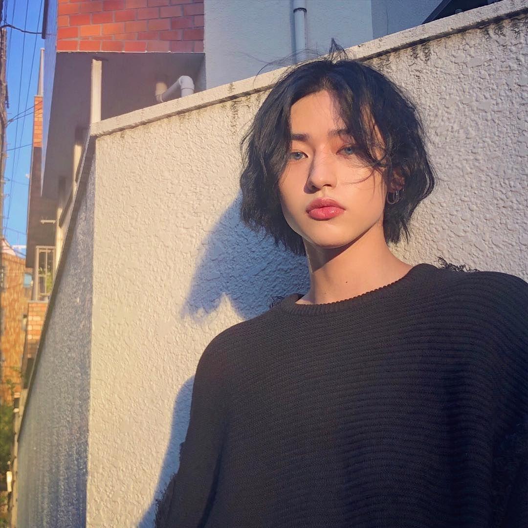 Outdoor woman short hair asian