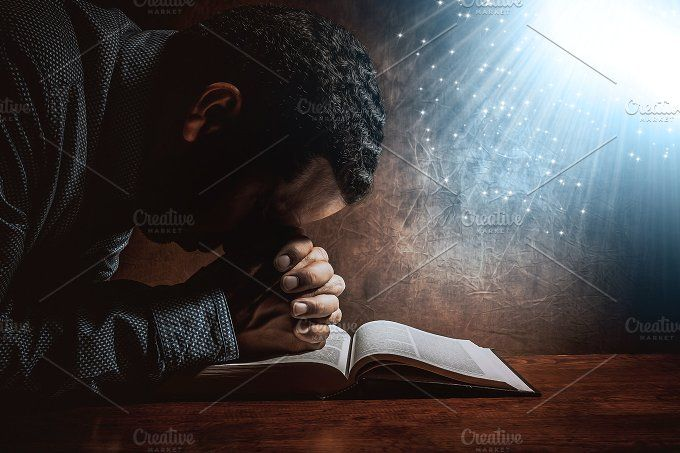 Man Praying To God Man Praying Praying To God Pray