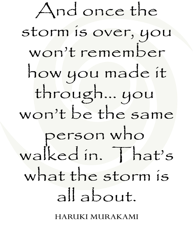 Hurricane Print Hurricane Harvey Hurricane Irma The Storm Murakami Quote Hurricane Quotes Murakami Quotes Storm Quotes