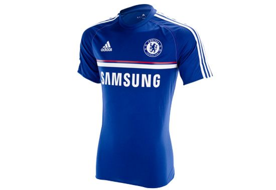 timeless design c11df 25dcc adidas Chelsea Training Jersey - Dark Blue with Red ...