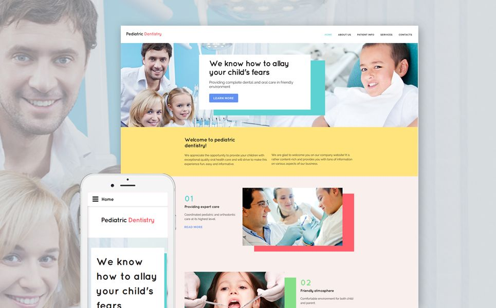 Dentistry Site Template Pediatric Dentistry Website Template Template Site