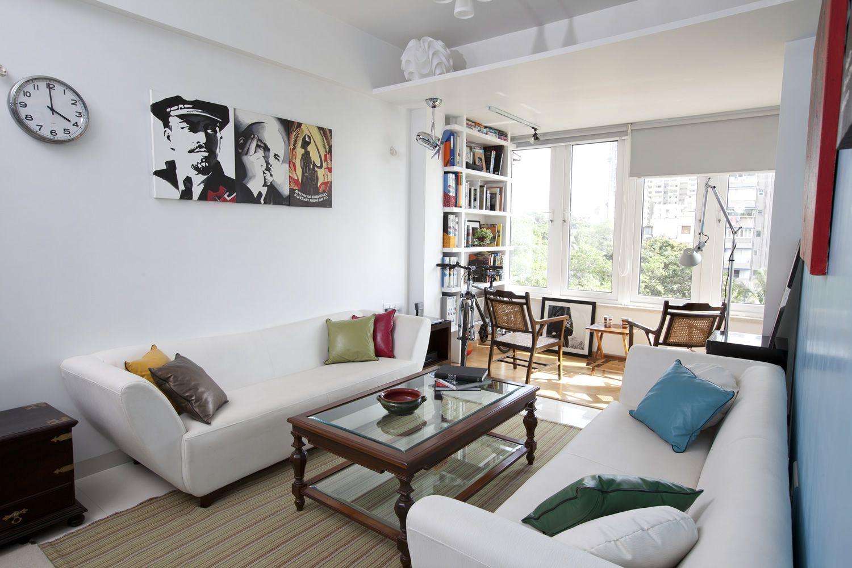 living room interior design of home gamadia road in Mumbai