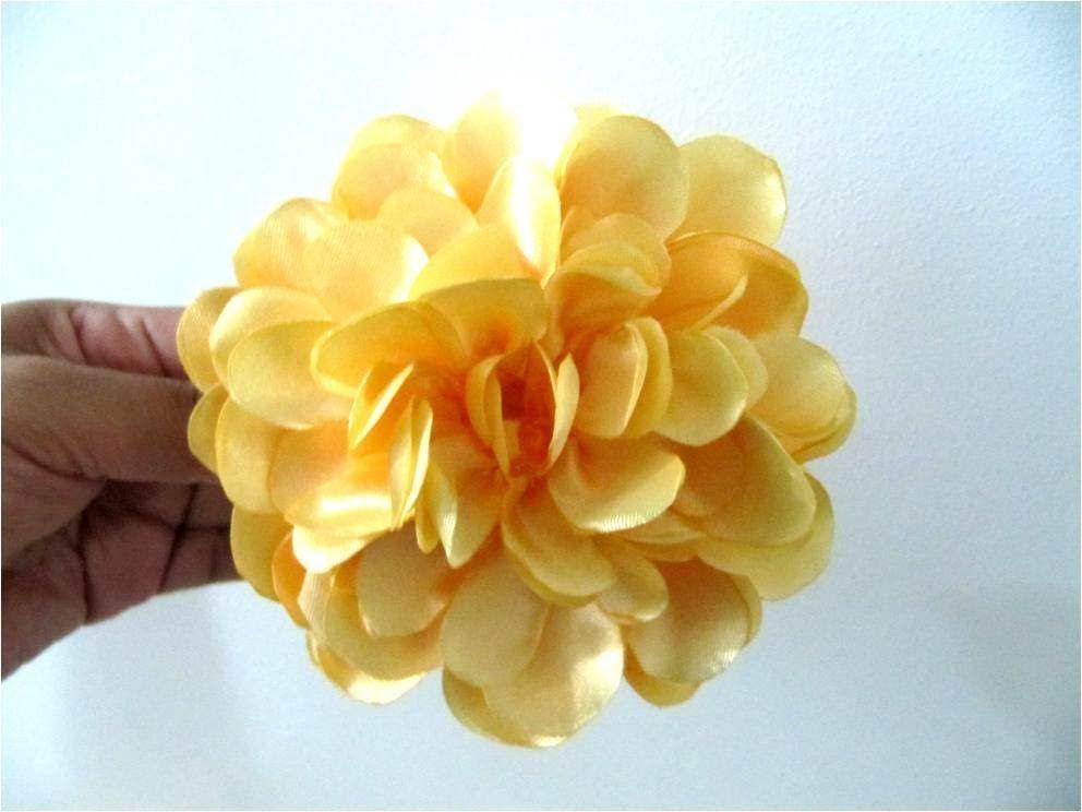 Monos En Tela Para El Cabello Flores Francesillas Amarillas Accesorios De Flores Para El Pelo Flores Hechas A Mano Tutorial De Flor