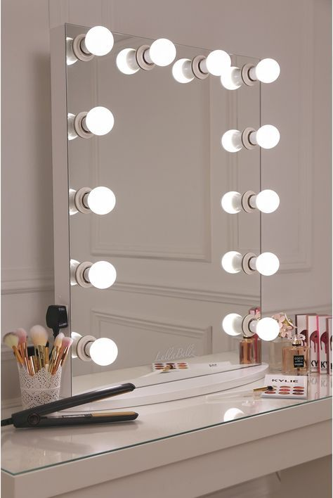 Lullabellz Hollywood Glow Vanity Mirror Led Bulbs This Is What Make Up Dreams Are Made Of Girls This Is Our Xl Room Inspiration Diy Vanity Mirror Room Decor